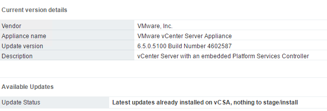 How to get vCenter updates through a proxy using the Appliance MUI